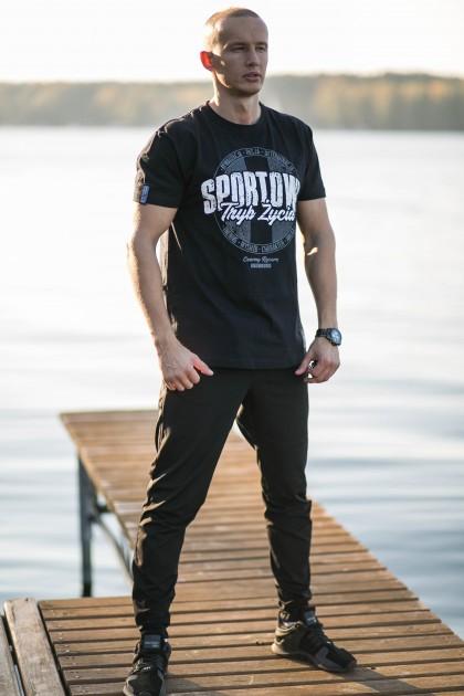 Koszulka Sportowy Tryb Życia Czarna