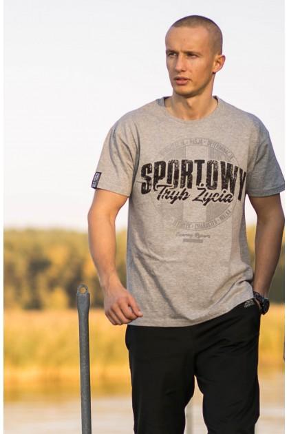 Koszulka Sportowy Tryb Życia Szara