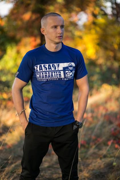 Koszulka Never Say Never Niebieska