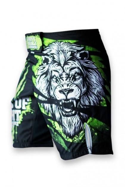 Spodenki MMA Lion Green