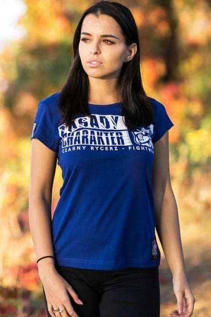 Koszulka Damska Zasady Niebieska