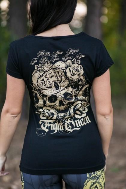Koszulka Damska Fight Queen Złoty