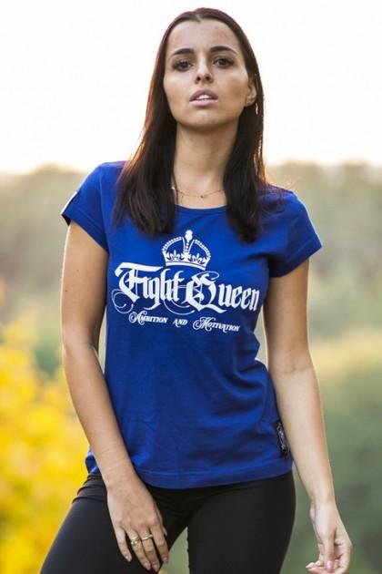 Koszulka Damska Fight Queen Niebieska