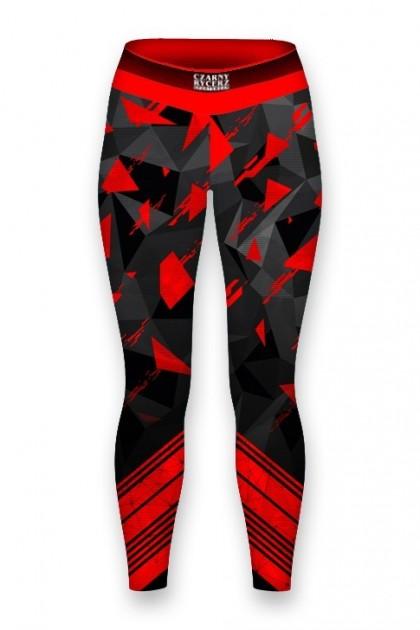 Leginsy Damskie Triangles Red