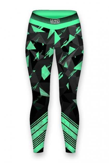 Top Damski Triangle Green