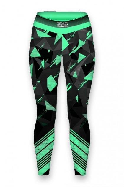 Top Damski Triangle Green