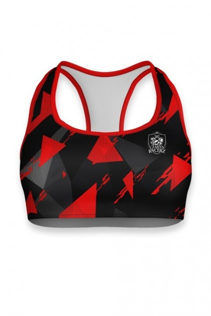 Top Damski Triangles Red
