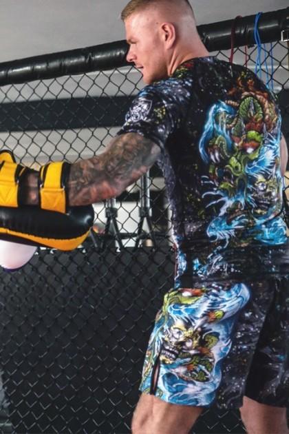 Spodenki Kickboxing Yakuza Black
