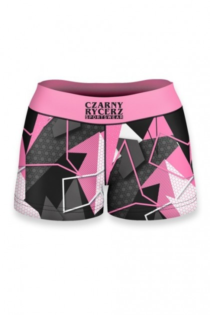 Szorty Damskie Abstract Pink