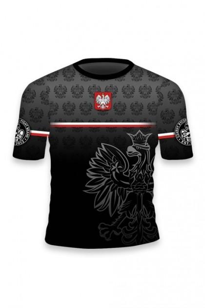 Koszulka Sportowa Polska Czarna