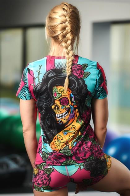 Koszulka Sportowa Damska Santa Muerte
