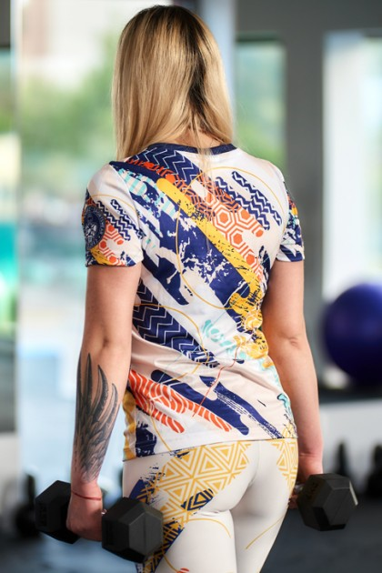 Koszulka Sportowa Damska Abstract