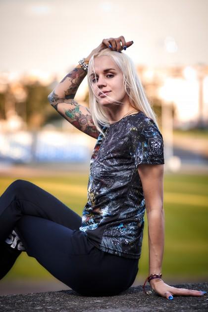Koszulka Sportowa Damska Yakuza Black