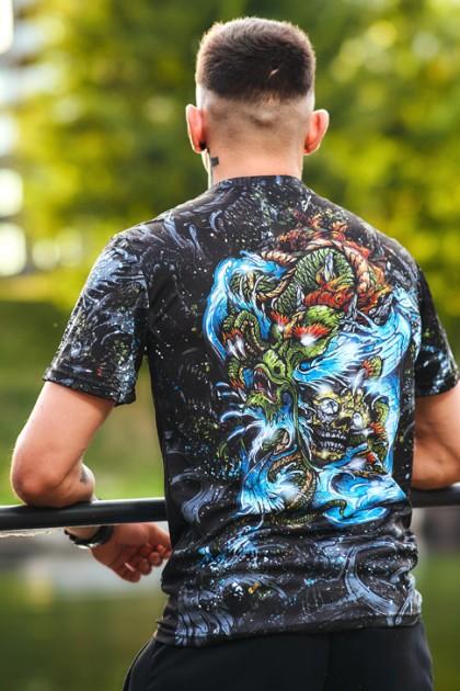 Koszulka Sportowa Yakuza Black