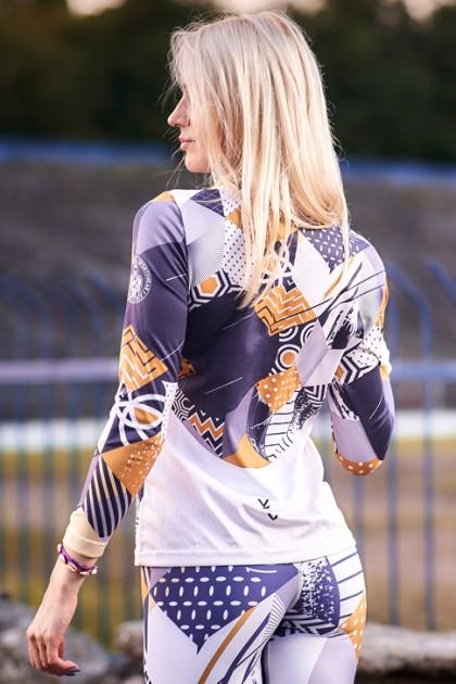 Koszulka Sportowa Damska Gold Long