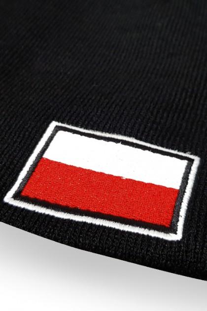 Czapka Polska Czarna