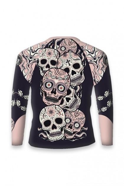 Rashguard Pink Skull Long